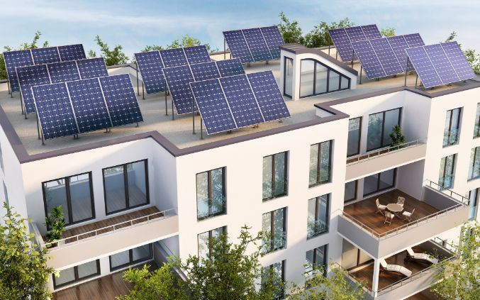 Flat Roof Top Solar Panels